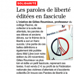 Revue de Presse Paroles de Liberté